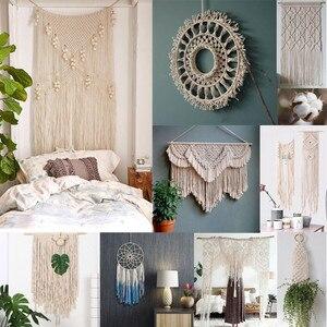 Image 1 - Cordon torsadé en coton blanc de 3mm x 200m, cordelette pour macramé artisanal fait à la main, fournitures de décoration de maison #10