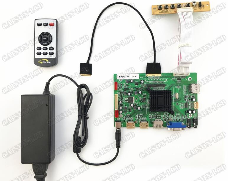 2HDMI+VGA+DP+Audio 4K LCD controller board support 12.5  inch 4K  lcd panel LQ125D1JW33 with 3840*2160 hdmi vga 2av reversing lcd controller driver board with 6 2inch 800x480 hsd062idw1 lcd panel