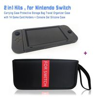 2in1 Kits Carrying Case Travel Storage Bag Silicone Gel One Piece Case 3 Colors For Option