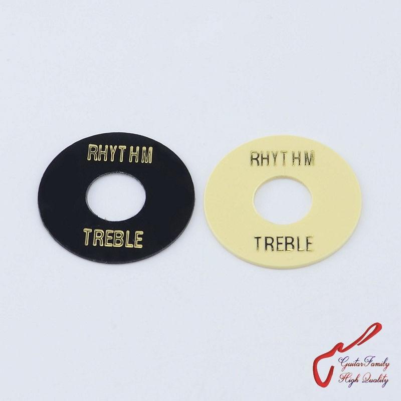 Black Rhythm//Treble Switch Surround for LP Guitar
