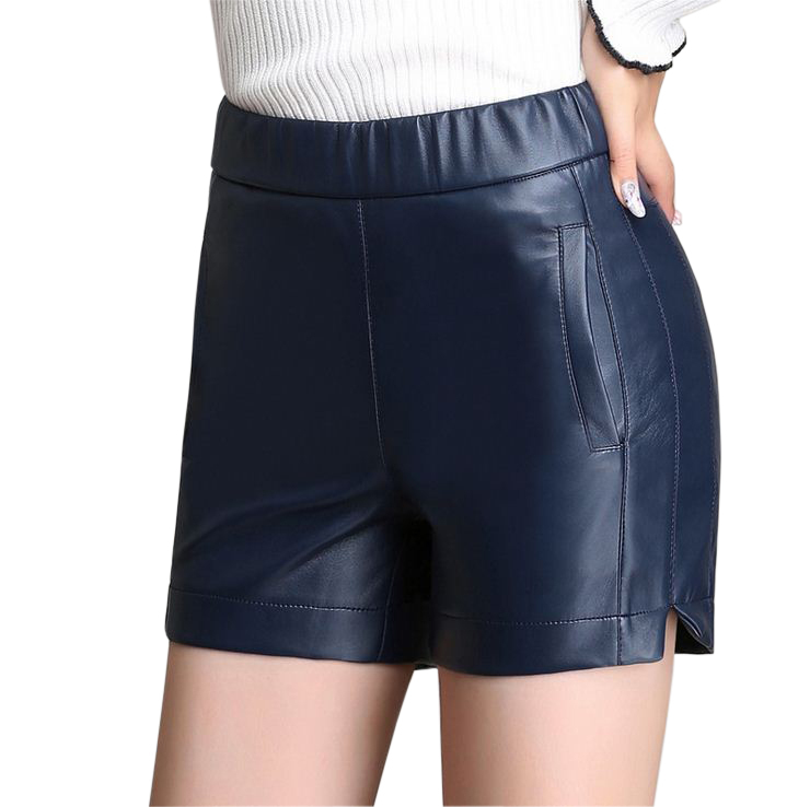 2015 Womens Plus Size Leather Shorts Faux Leather Short ...