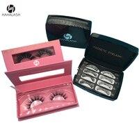 HaHaLash gift box eyelashes 2 pairs box Magnetic Eyelashes and 1 pair natural 3D mink eyelashes paper magnet box 2 pairs