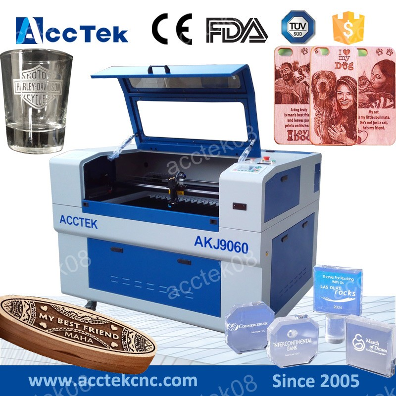 cheap cnc laser machine 6090 3d photo crystal laser engraving machine, engraving laser high quality photo 2d 3d crystal mugs ring shoe design laser engraving machine price for portrait printing