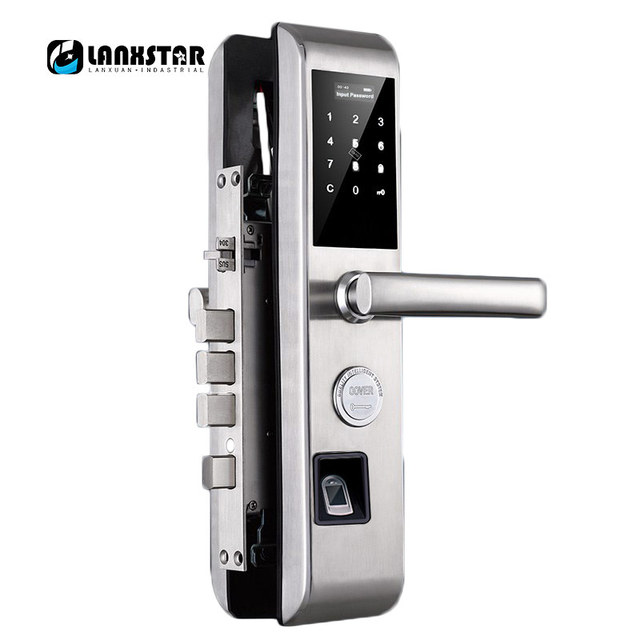 New Password Fingerprint RFID Card Key Mobile Dynamic Code Smart Lock English System Anti-theft Door Dead-lock Intelligent Lock