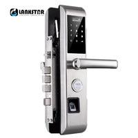 New Password Fingerprint RFID Card Key Mobile Dynamic Code Smart Lock English System Anti theft Door Dead lock Intelligent Lock