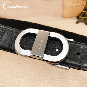 Image 3 - 2020 ciartuar official store luxury new fashion designer men belt high quality genuine leather cowskin for trouser free shipping