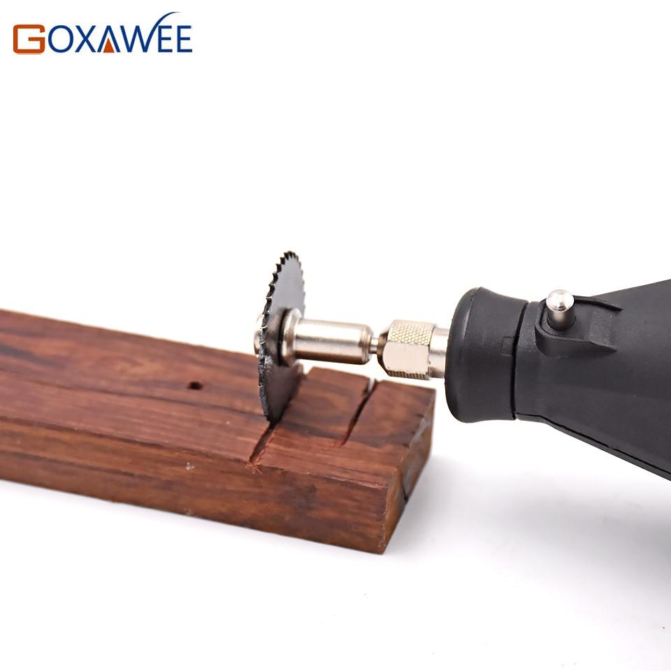 GOXAWEE Accessori Dremel Lame per sega circolare HSS set per utensili - Lama per sega - Fotografia 5