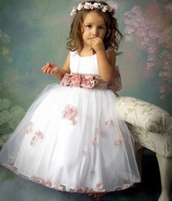 Free shipping 2 8 years old floral kids wedding