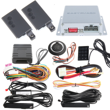 Immobilizer bypass PKE car alarm system remote engine start stop, push button start and touch password entry 433.92MHZ