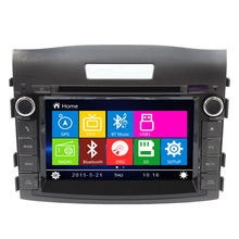 Dual core high digital 2 Din 7″ car dvd player  GPS Navigation for Honda CRV 2012 with radio Navi stereo RDS SWC BT
