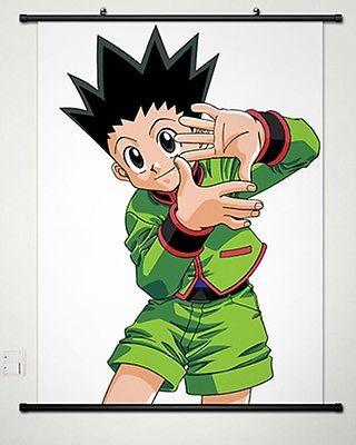 ᗔhome decor anime hunter x hunter wall scroll poster painting gon