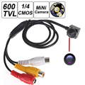 600TV 170 degree super small color video camera with audio Line HD Tiny Mini Security CCTV Pin Hole Camera