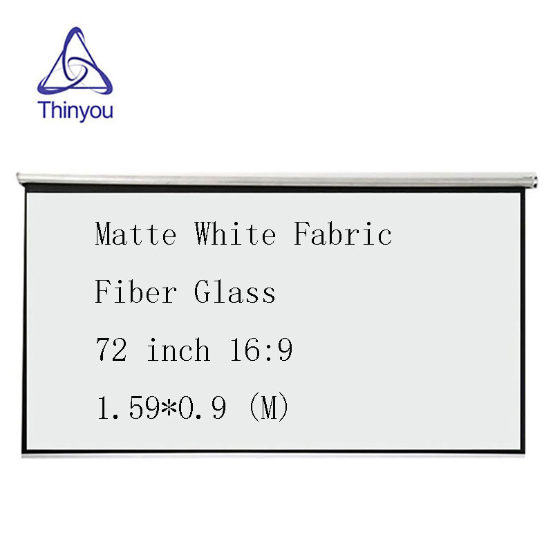 Thinyou Matte White Fabric Fiber Glass Curtain font b projector b font screen 72 inch 16