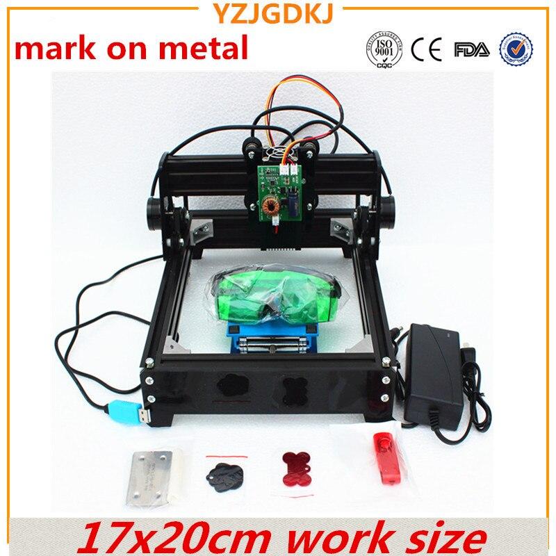15 w diy laser machine de gravure 14*20 cm métal graveur laser de marquage machine laser de coupe marque sur chien tag 15 w 12 w 10 w en option