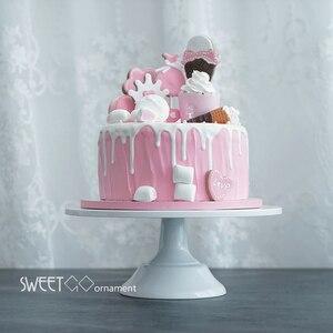 Image 2 - SWEETGO Grand Baker soporte para pastel, 12 pulgadas, herramientas de boda blancas, molde para Fondant, suministros de decoración de cupcakes, mesa de postre