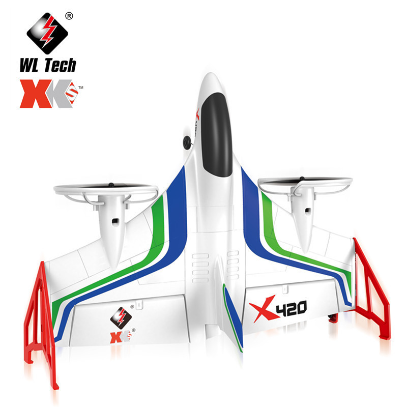 IMPULLS wltoys X420 Foam Glider Airplane 6-axis gyroscope Brushless Vertical Takeoff Landing Aerobatic Aircraft FSWB