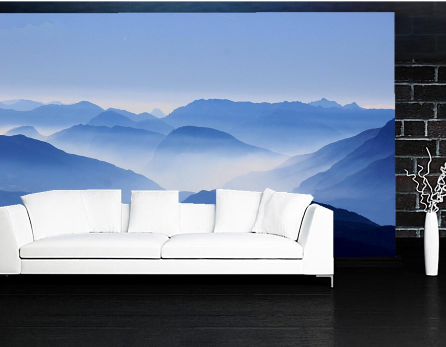Custom mural wallpaper,Continuous stretches of mountain,hotel living room bedroom sofa wall 3d wallpaper papel de parede custom mural papel de parede foxes water stones animals wallpaper restaurant living room tv sofa wall bedroom 3d wallpaper