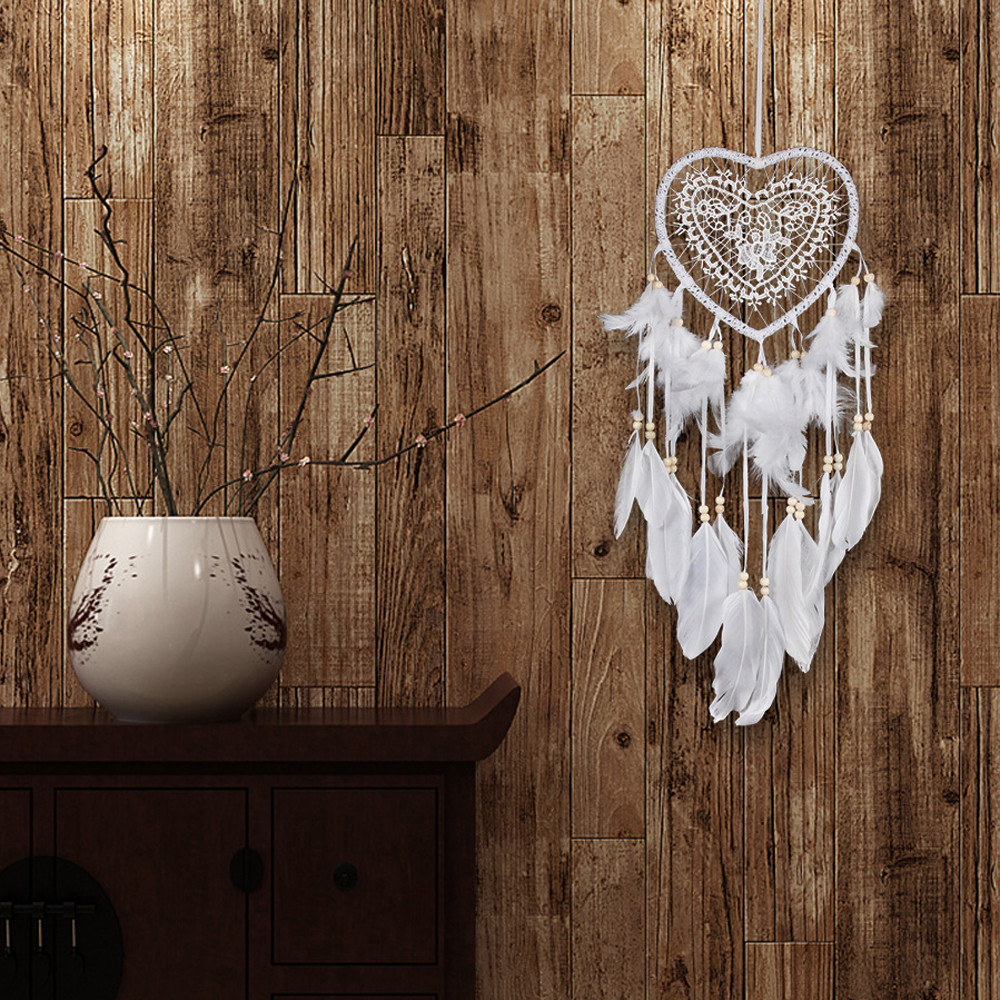 Dream-Catcher Hanging-Decoration Feather-Bead Wind-Chimes Handmade Colorful Craft Art-Pendant