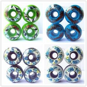 Image 1 - 4 pcs Rodas de Skate Rodas 50mm para Forma De Skate Rodas PU Rodas De Skate 1 Conjunto em Estoque/cada Tipo de