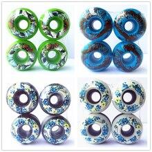 PRO 4 unids/set ruedas de monopatín 50/51/52/53/54mm PU rueda ruedas piezas de monopatín