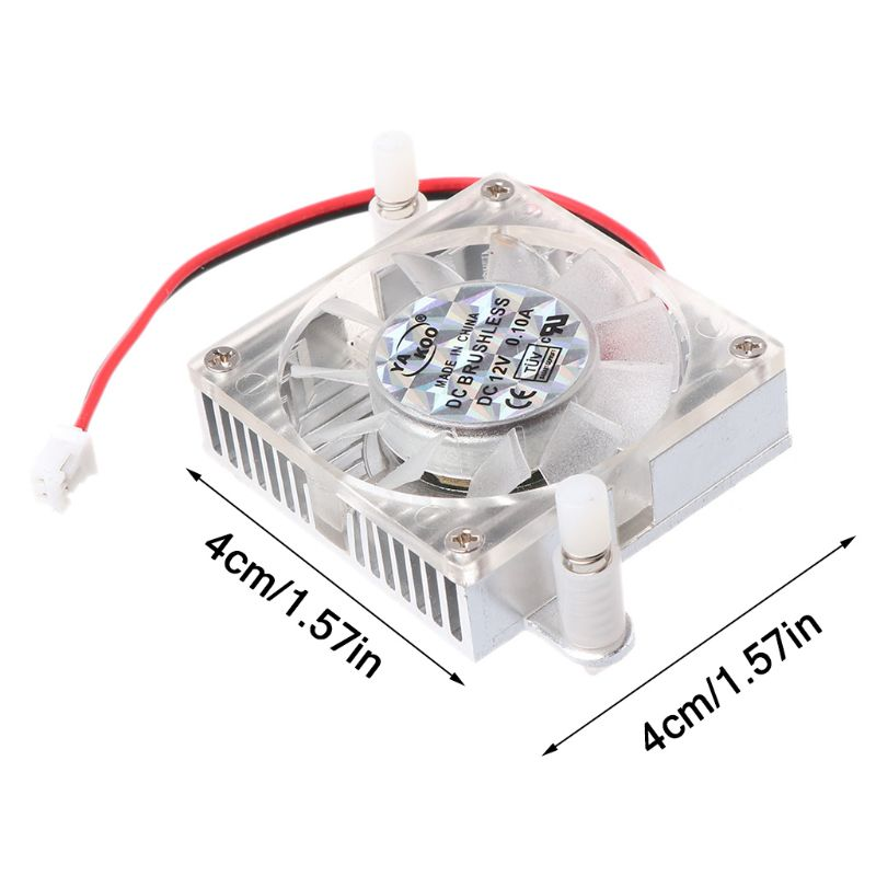 2Pin DC 12V 40x40mm Square Computer Cooling Fans Cooler Replacement For Notebook PC Laptop Accessories