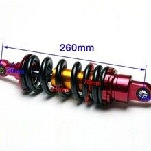 260 мм задний амортизатор для питбайк мотоцикл тяжелый 1000LBS Демпфирование задний подходит для кроссовые мотоциклы красный+ черный