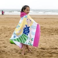 Baby Beach Wrap Children Cloak Bath Towel European Style A Type Formaldehyde free 100% Cotton Towels 127x76cm