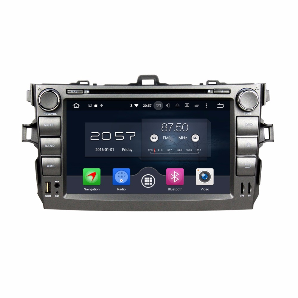 4GB RAM Octa Core 8 Android 6.0 Car DVD Player for Toyota Corolla 2006-2011 With Radio GPS 4G WIFI Bluetooth USB DVR OBD