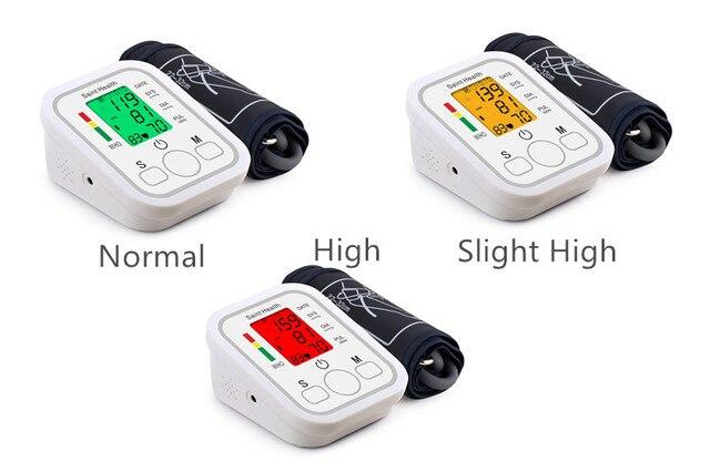Automatic Digital Arm Blood Pressure Monitor BP Sphygmomanometer Pressure Gauge Meter Tonometer for Measuring Arterial Pressure 5