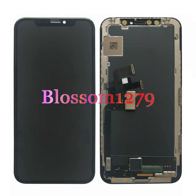 1 pçs testado oled display lcd touch screen digitador assembléia para apple iphone x xs max jk gx tft reparação substituição