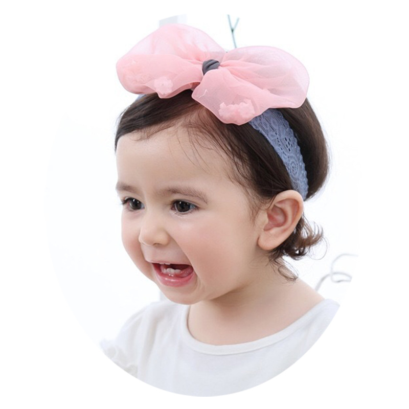 0 12 months Korean version baby hair band summer baby headdress girl big bow headdress princess photo hair band in Hair Accessories from Mother Kids