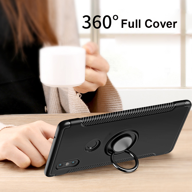 Finger Ring 360 Full Protect Case Xiaomi Mi Mix 2S Mix 2 Xiaomi Mi Note 3 Max 3 A1 A2 Back Cover Silicone Case Xiaomi Mi8 Mi9T in Fitted Cases from Cellphones Telecommunications