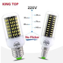 E14 / E27 Led Bulbs Lamps 38-140Leds AC220V 230V 240V High Power Bombillas Led Lights No Flicker Design Lamapada Lighting 1PCS