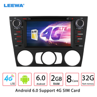 LEEWA 7 Android 6.0 (64bit) 2G/32G/4G Octa Core Car DVD GPS Radio Head Unit For BMW E92 3 Series Coupe/E93 3 Series Cabriol