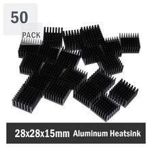 50 Pieces 28x28x15mm Cooler Fins Heatsinks For PGA CPU PC Radiator Aluminum