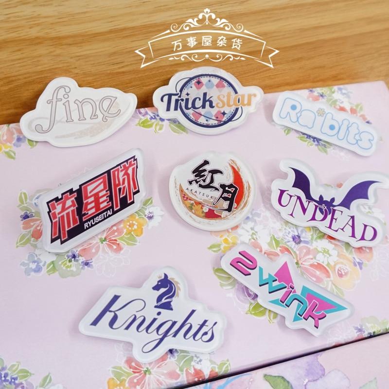 Ensemble Stars Anime Idol High School Game Team Trickstar ES Acrylic Brooch Badge