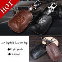 Genuine Leather Car Intelligent Folding Key Case Fob Cover For Volvo XC60 S60L S60 V60 V40