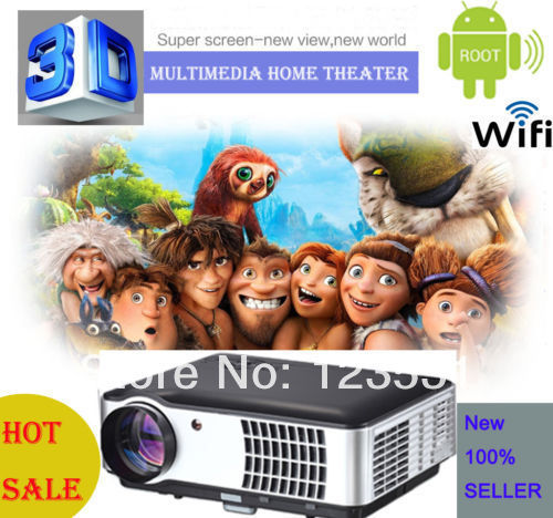 LCD Home Theater Multimedia 3D LED Projector 1280 800 Native 3500 Lumens FULL HD HDTV WiFi - Easy Importer store