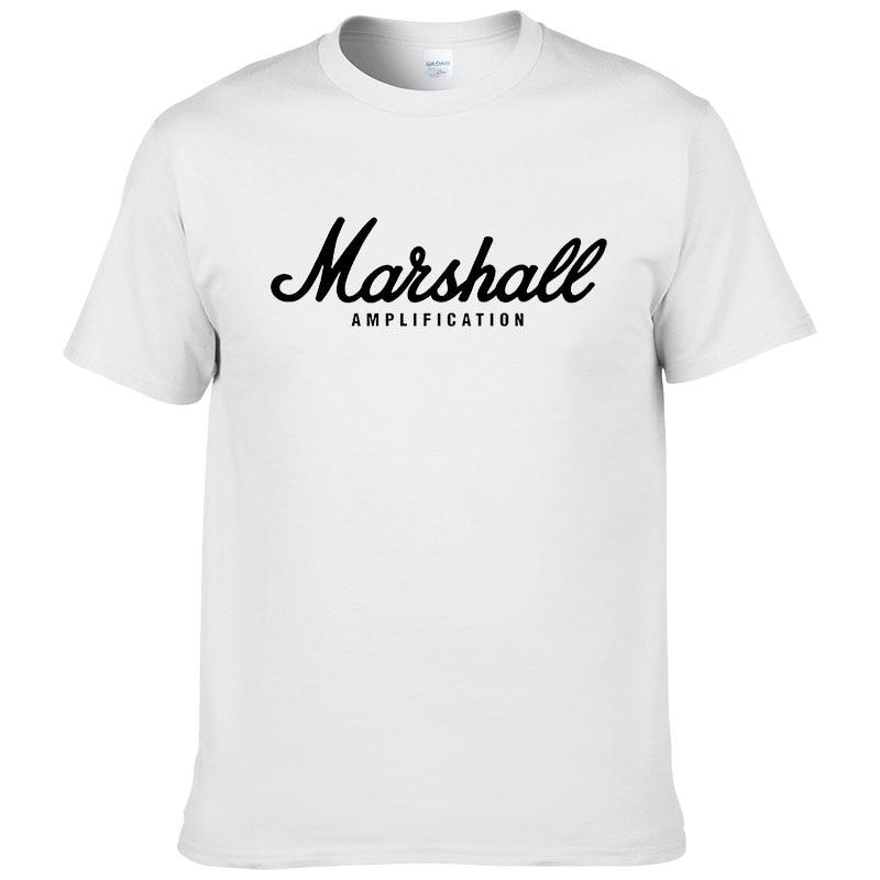 100% cotton Marshall T Shirt men short sleeves tee hip hop street wear for fans hipster 17