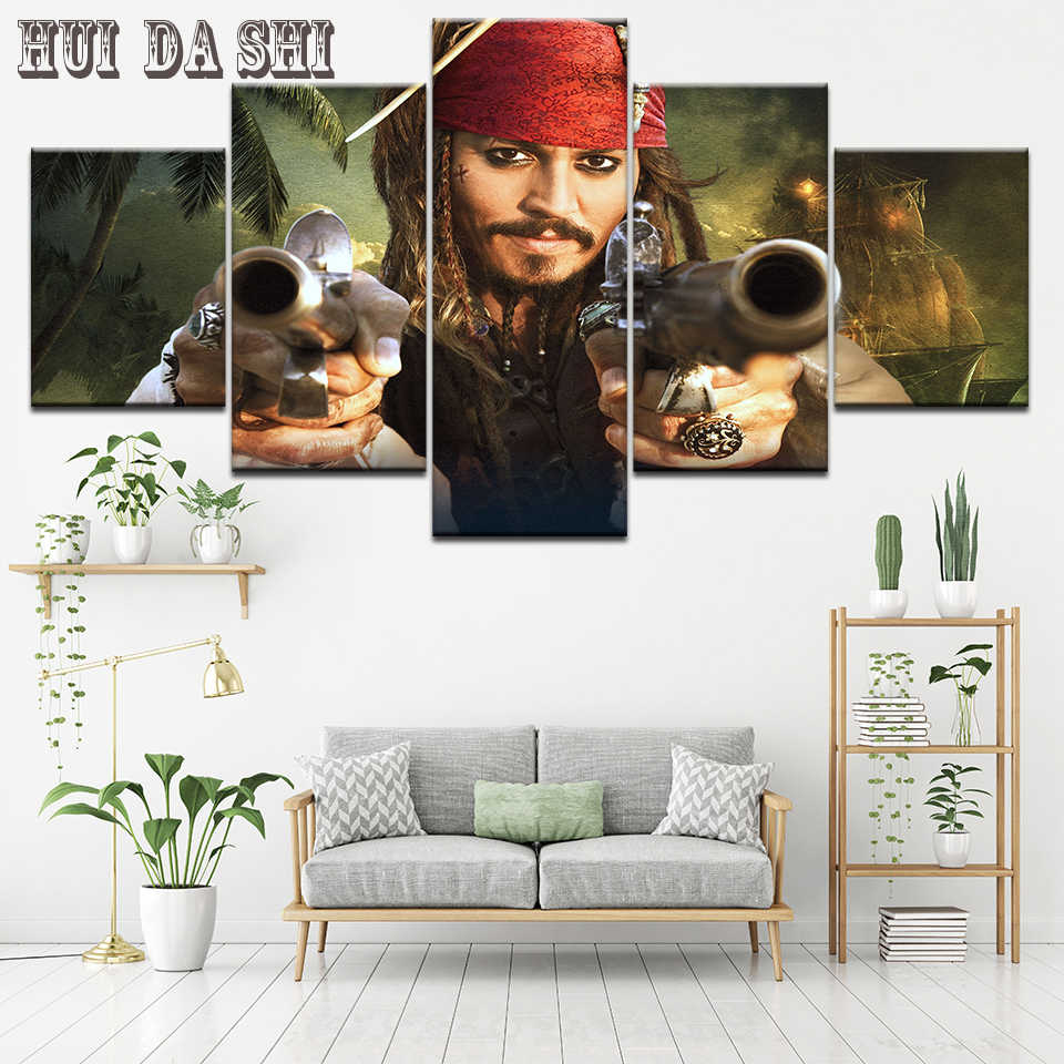 5piece Wall Art Pirates Of The
