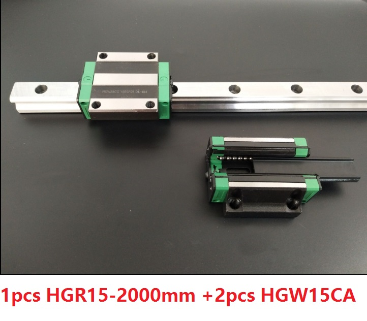 1pcs linear guide rail HGR15 2000mm + 2pcs HGW15CA/HGW15CC linear Carriage blocks for CNC router parts Made in China akg6090 made in china high quality desktop mini cnc router 4060 for sale