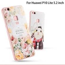 Huawei p10 lite case 5.2 дюймов роскошный мягкий задняя крышка телефона case для huawei p10/nova lite case 3d кремния крышка рельеф кожи мешок