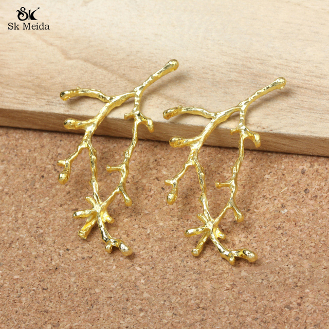 20PCS 56mm Accessories For Jewelry Gold Leaf Connectors For Jewelry