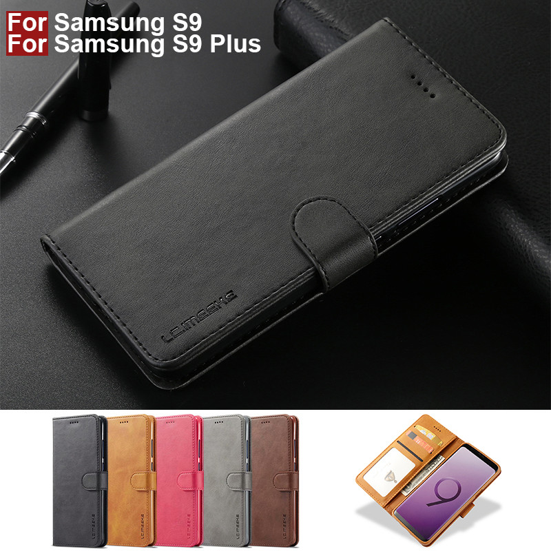For Samsung Galaxy S9 Case Leather Vintage Phone Case Funda Samsung S9 Plus Case Flip Magnetic Wallet Case On S9 Plus Cover Book