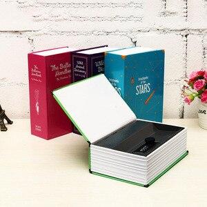 Image 3 - Coffre fort en acier, coffre fort à verrouillage combiné 18x11.5x5.5cm, boîte de rangement cachée, Simulation du livre pour la maison et le bureau, argent téléphone