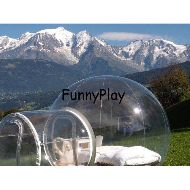 gartenzelt kristall blase zelt auaen transparente aufblasbare klar camping zelte struktur luna gebraucht kaufen