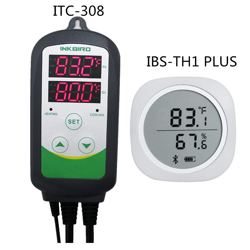 Combo IBS-TH1 PIÙ Bluetooth Monitor Smart Sensor Data Logger + ITC-308 Magnetico Senza Fili di Riscaldamento e di Raffreddamento Regolatore di Temperatura