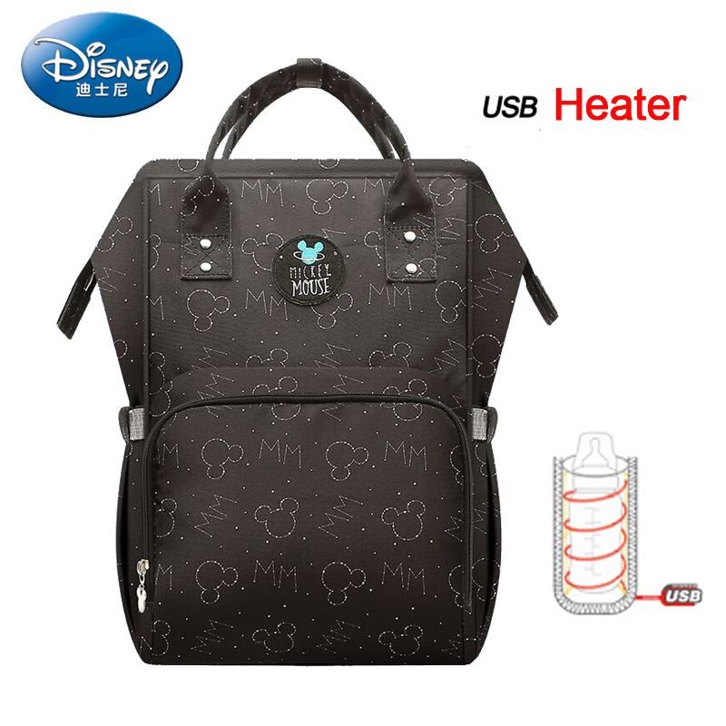 цена Disney Mummy Bag Multifunction Large Capacity Nappy diaper bag Travel Backpack Baby Handbag Bottle Bag Fashion Insulation Bags