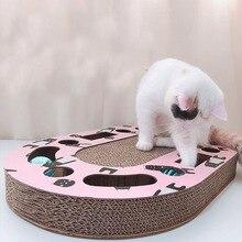 Deluxe Cat Toys Cat Scratch Board Pad Scratching Kitten Corrugated Paper Pad Cats Nail Scraper Mat Mattress Gift Organic Catnip