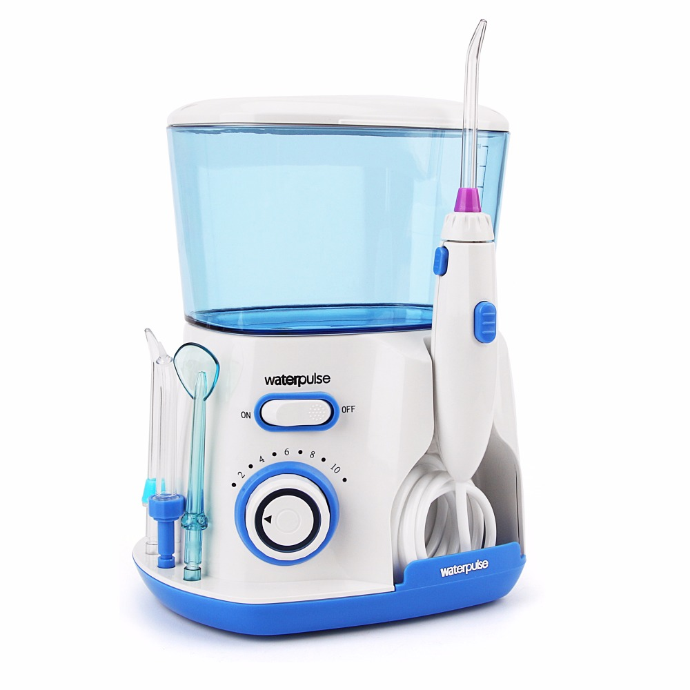 Waterpulse V300 Dental Flosser 5 Tips 800ml Personal Oral Irrigator Teeth Cleaning Tool Irrigador Dental Bucal